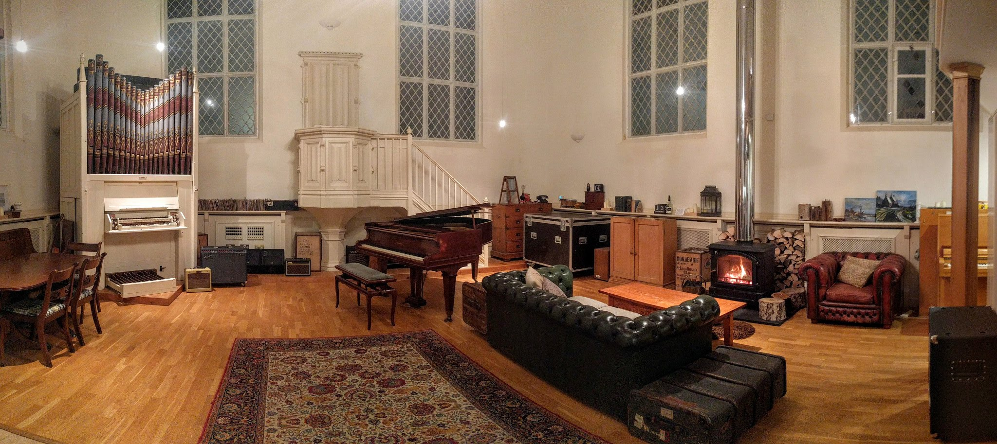 Grand Chapel Studios - Main Room at Night