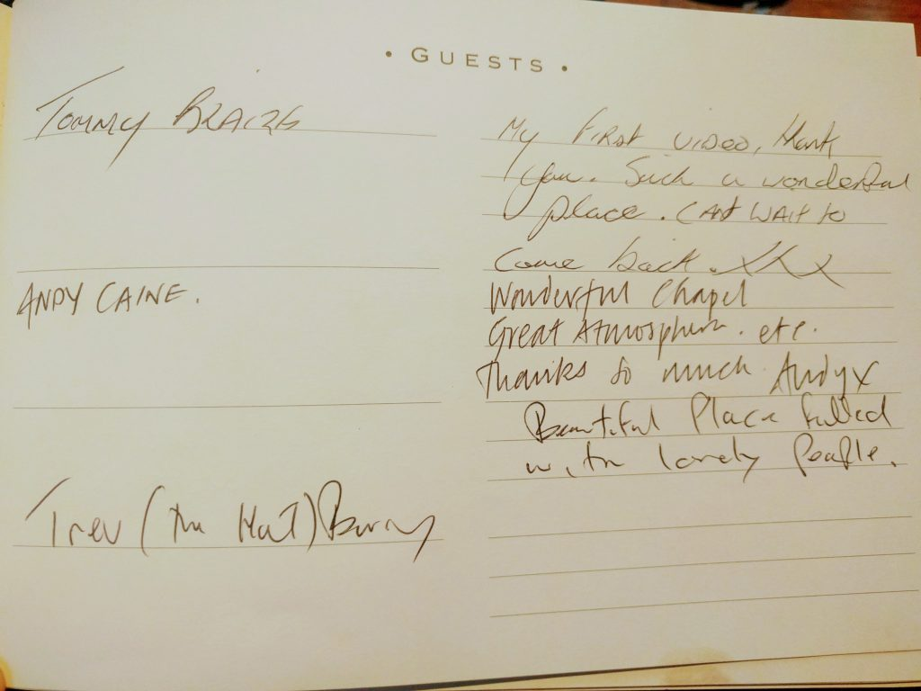 Tommy Blaize and Trev The Bass Guestbook